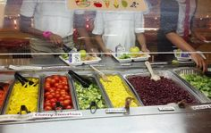 Students load up on fresh vegetables at Burrville Elementary School in Washington, DC.