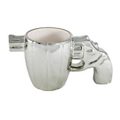 Chrome Pistol Mug - Gifts for Gun Nuts
