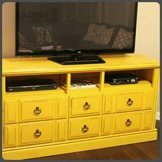 Dresser into a TV stand!