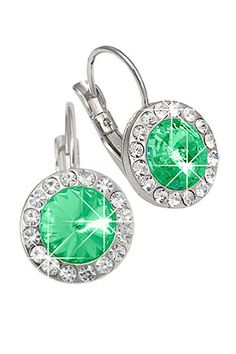 $24.99 X Crystal  Crystal Drop Earrings In Green (also comes in light blue, clear & pink)  visit http://www.beyondtherack.com/member/invite/B1458C34 for designer items at discount prices. Free to join!!