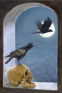 Blackbird Singing in the Dead of Night Painting  - Blackbird Singing in the Dead of Night Fine Art Print