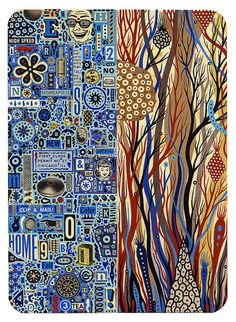 Duality, by Colin Johnson. I love all the painstakingly finite details in Colin's work. Inspiring & very cool.