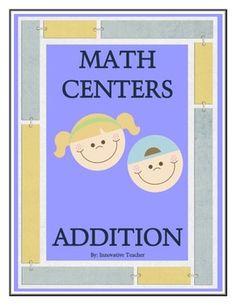 Math Centers Addition - Math CCSS