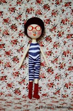 Love Floral!  handmade doll {made by Ching}