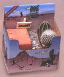 Adobe Planting Kit - This kit contains a 3 1/2″ Adobe Planter, 2 cacti, soil, pebbles, and a decorative Arizona sign. Everything you need for a small cactus desk garden. Now you can own a piece of the American Southwest! Desert Canyon Gifts presents a selection of Cactus Growing Kits. Most cactus planting kits come complete with cacti, the right type of soil, decorative pebbles, planter, and a unique Arizona sign. $23.95