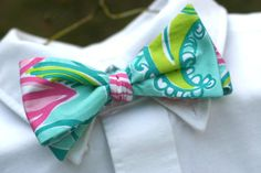 Lilly Pulitzer bow tie.