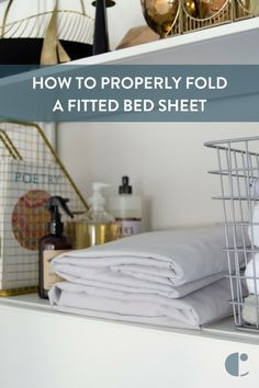 How to fold a fitted sheet | Don't wad it up! Learn how to fold a fitted sheet the right way with our quick walkthrough video.