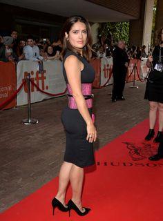 "Salma Hayek booty in LBD attending the ""Kahlil Gibran's The Prophet"" premiere TIFF"