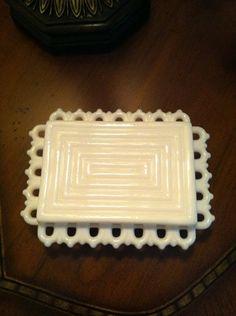 Fostoria Milk Glass Box.