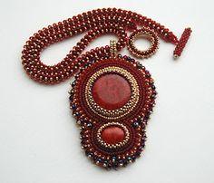 Bead Embroidery Pendant