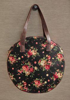Floral Travels Round Bag