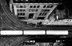 """The """"el"""" tracks make a loop around the downtown area in Chicago!"""