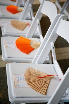 aisle decorations, beaches, wedding favors, wedding colors, beach weddings, fan, summer weddings, outdoor weddings, garden weddings