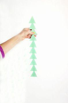 Triangle paper garland strands | Design Love Fest