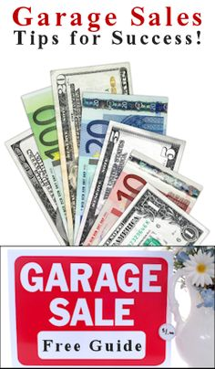 Garage sales tips for success! If you plan on having a sale, make the most out of it.