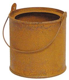 rusty tin paint can