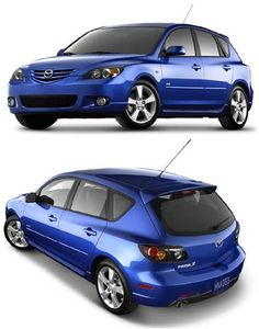 Mazda 3 Hatchback 2008  -  This is the car I'm most interested in so far - Only I want red or white!