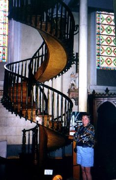 360 degree turn without any nails  These stairs are in Santa Fe at the Loretto Chapel.