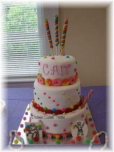 #Candyland party cake