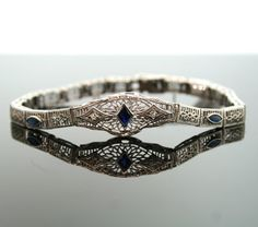 Antique Edwardian 14K White Gold Diamond and by SITFineJewelry, $1850.00