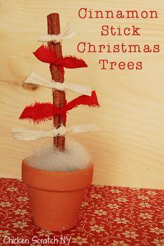 Scrapy Cinnamon Stick Christmas Trees