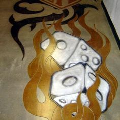 A perfect design for a concrete floor in Las Vegas.  Floor Seasons Inc Las Vegas, NV