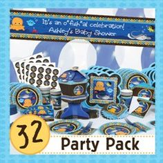 Under the Sea Baby Shower ideas to throw the perfect summer bash.  This party pack has everything you need for your under the sea theme.  Use coupon code:modern11 and save 11%