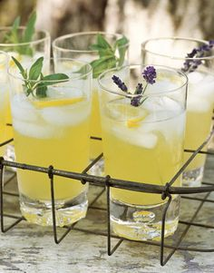 Pineapple Cooler with Fresh Lavender