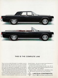 1963 Lincoln Continental Sedan and Convertible