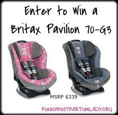 car seats, idea, pavilion 70g3, enter, win, funni postpartum, 70g3 carseat, postpartum ladi, britax pavilion