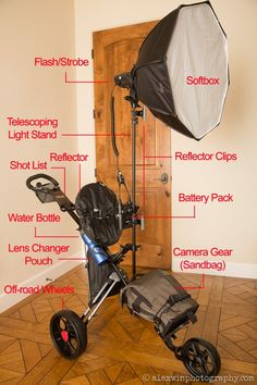 Portable diy traveling light setup