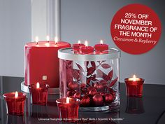Cinnamon and Bayberry - the fiery heat of cinnamon is complemented by the crispness of bayberry. It's as if fresh Christmas greens have been brought indoors to a spiced holiday kitchen. #PartyLite #candles