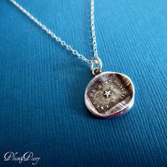 North Star Necklace  Guiding Star Wax Seal by PlumAndPoseyInc, $55.00