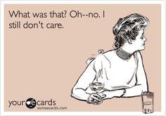 ....and I still don't.