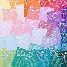 Colorful Wedding Inv