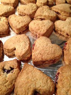 The Full Plate Blog: jam-filled scones