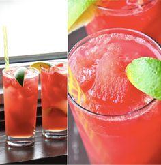 Watermelon Limeade Cocktails
