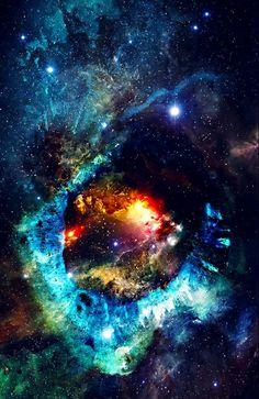 Nebula and Stars In Universe, Published by Bumbu