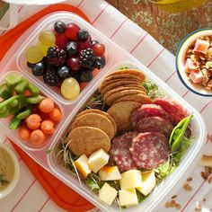 DIY Lunchables. Healthy and reminscent of being a kid!