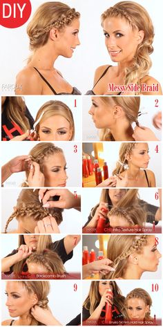 Step-By-Step Side Braid (click for video & details)