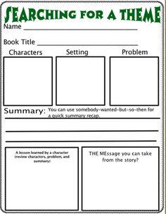 Ideas/Resources for Teaching Theme