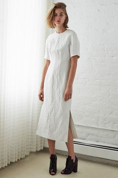 White Dress (somewhat simple - CUTE!) FROM: Ellery | Resort 2015 Collection | Style.com