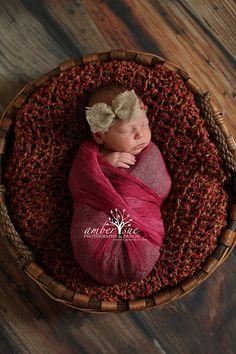 Newborn Photo Prop Baby Girl Burlap Bow Tie by crochetbynicolelynn Newborn Photography . Photography Prop