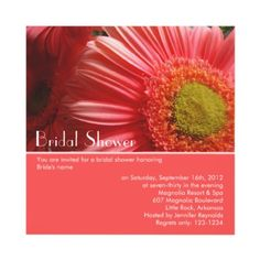 Customizable floral invitation, for bridal showers or other parties.