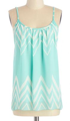 Chevron tank in #mint http://rstyle.me/n/juewcnyg6