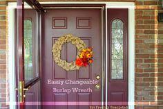 30 min (or less) Easy Burlap Wreath!