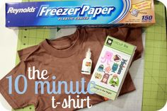 EASY way stencil a plain t-shirt with freezer paper