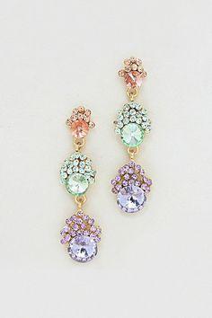 Pretty Earrings pastel, fashion earrings, crystal madelin, jewelry accessories, madelin earring