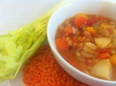 Red Lentil Stew with Root Vegetables #MeatlessMonday @Sharon Palmer