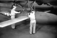 Ground preparation of the JB-2 Loon prior to air launch, 1944